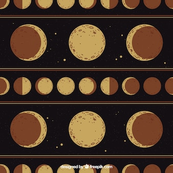 Sfondo di fase lunare