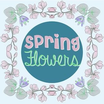 Sfondo di fiore di primavera