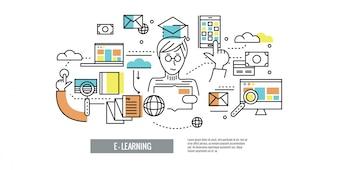 Sfondo di formazione online