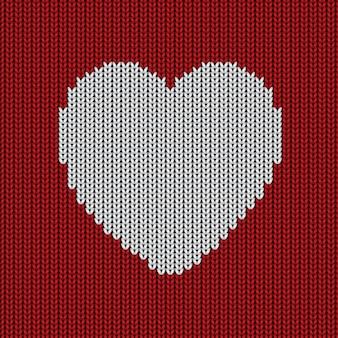 Sfondo di lana con un cuore