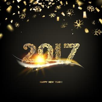 Sfondo di lusso per il nuovo anno