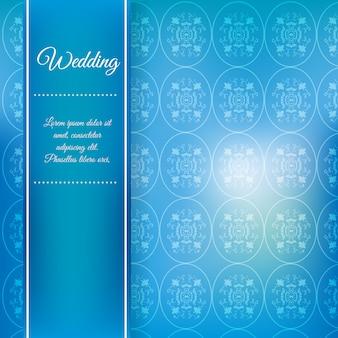 Sfondo di matrimonio blu