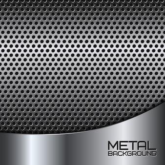 Sfondo di metallo astratto con perforazione