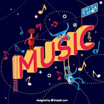 Sfondo di musica divertente