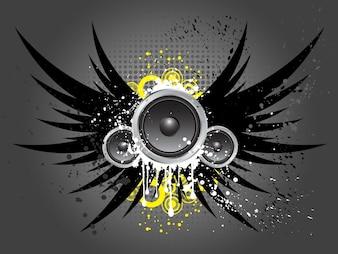 Sfondo di musica in stile Grunge