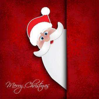 Sfondo di Natale con Babbo Natale
