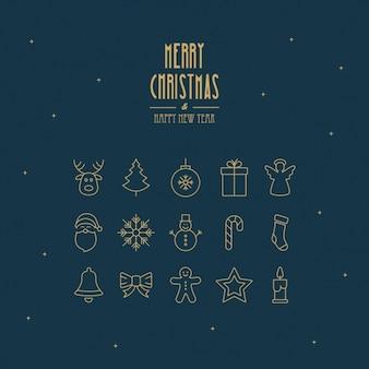 Sfondo di Natale con elementi minimalisti
