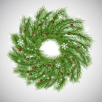 Sfondo di Natale con la corona decorativo