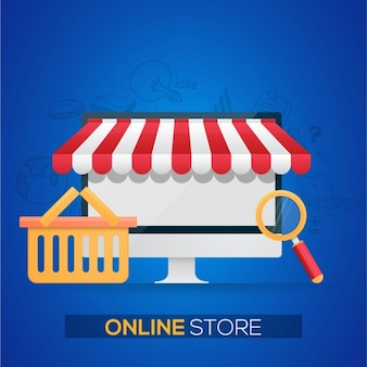 Sfondo di negozio on-line