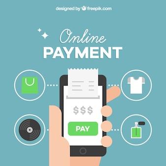 Sfondo di pagamento online