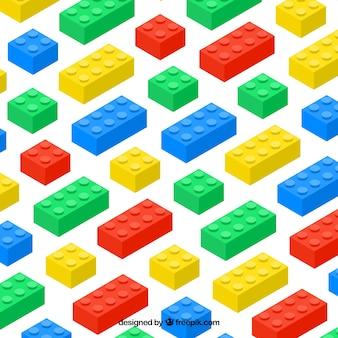 Sfondo di parti di plastica colorate