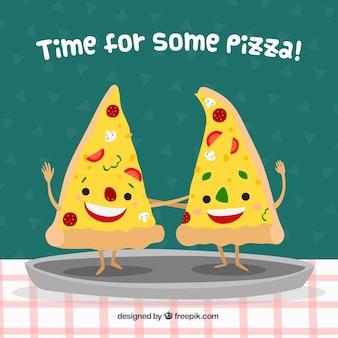 Sfondo di pezzi di pizza piacevole
