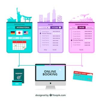 Sfondo di prenotazione online