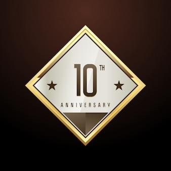 Sfondo di rhombus del 10 ° anniversario