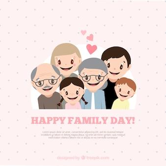 Sfondo di simpatici personaggi della famiglia