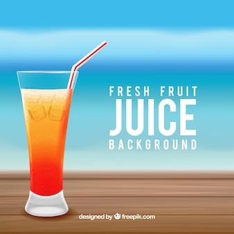 Sfondo di succo di frutta fresca