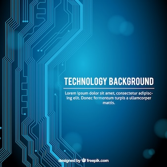 Sfondo di tecnologia con circuito moderno