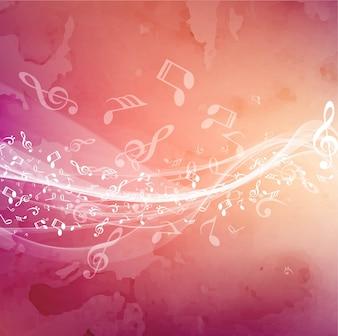 Sfondo di tema moderna di musica