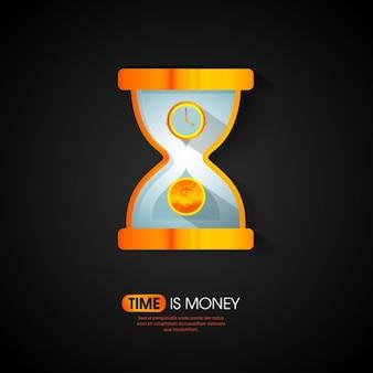 Sfondo di tempo è denaro