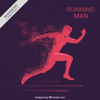 Sfondo di uomo che corre silhouette