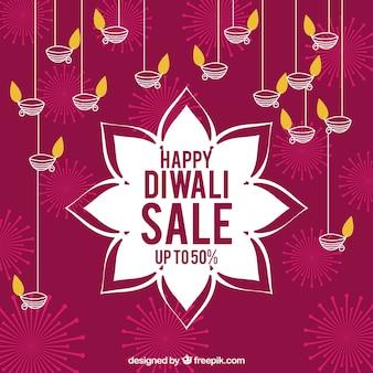 Sfondo di vendita di diwali felice