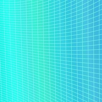 Sfondo dinamico astratto griglia geometrica - grafica vettoriale dalla curva angolare a righe griglia