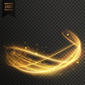 Sfondo dorato effetto vettoriale luce