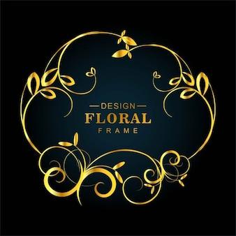 Sfondo dorato floreale