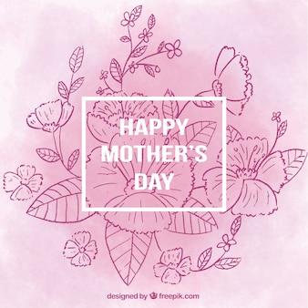 Sfondo floreale nei toni viola per la festa della mamma