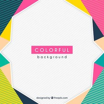 Sfondo geometrico colorato