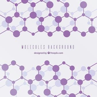 Sfondo geometrico delle molecole