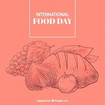 Sfondo internazionale del giorno di cibo