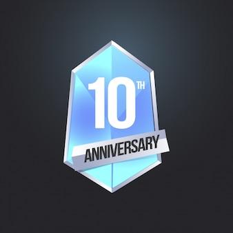 Sfondo logo del 10 ° anniversario
