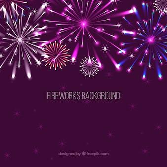 Sfondo luminoso fuochi d'artificio
