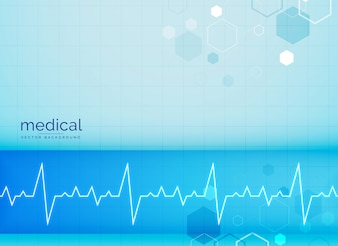 Sfondo mecial con battito cardiaco elettrocardiogramma