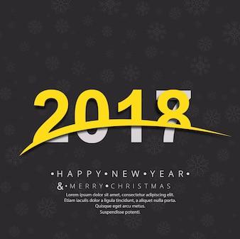 Sfondo moderno di 2018 nuovo anno