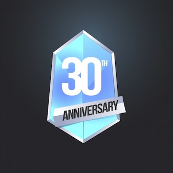 Sfondo nero del 30 ° anniversario