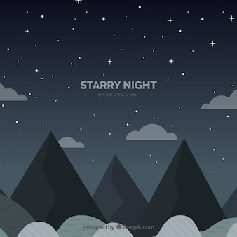 Sfondo notturno stellato