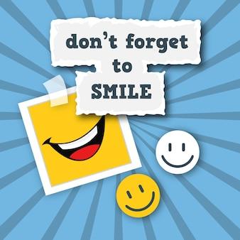 Sfondo raggera con sorrisi
