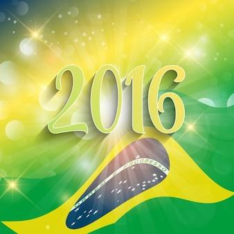 sfondo Rio de Janeiro con disegno astratto bandiera
