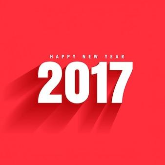 Sfondo rosso del 2017 il testo con ombra che si muove verso il basso