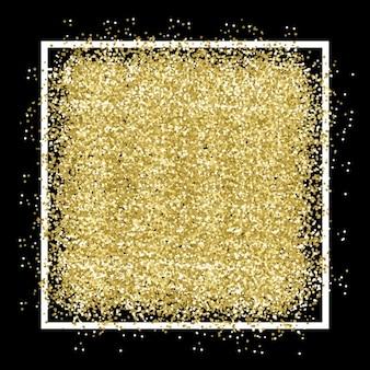 Sfondo scuro con coriandoli d'oro