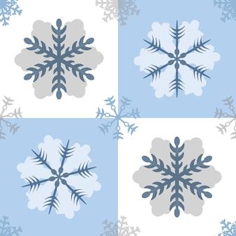 Sfondo senza saldatura blu fiocchi di neve