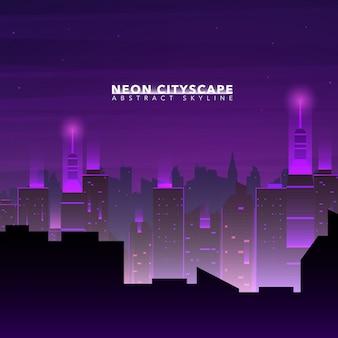 Sfondo Skyline della Città Notte