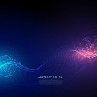 Sfondo tecnologia astratta con vettore effetto luce