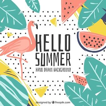 Sfondo tropicale ciao estate