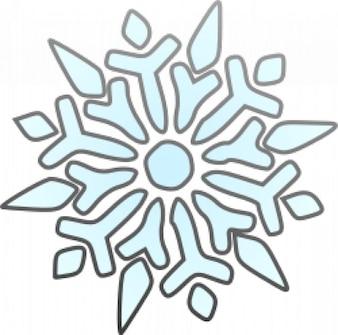 Singolo fiocco di neve