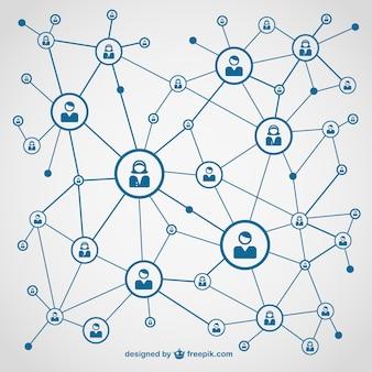 Social media libero disegno vettoriale