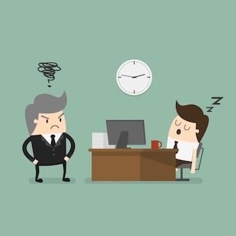 Sonno dei dipendenti al lavoro