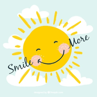 Sorridente sfondo sole